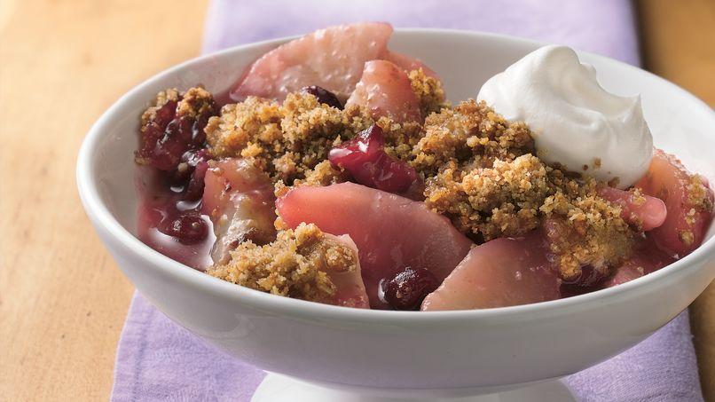 Almond-Cranberry-Pear Crisp