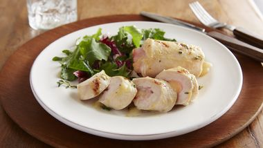 Grilled Ham- and Swiss-Stuffed Chicken Breasts