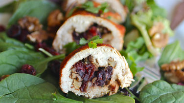 Chicken Stuffed with Cranberries and Walnuts
