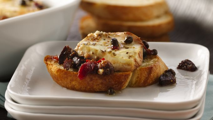 Baked Goat Cheese Crostini