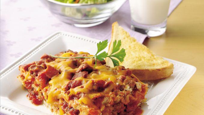 Easy Bacon Cheeseburger Lasagna