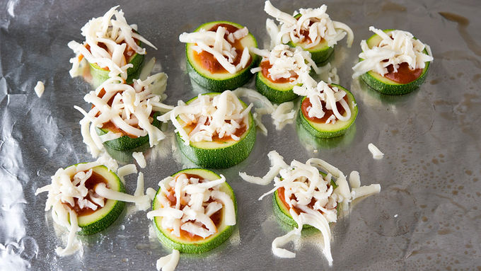 Zucchini Pizza Bites Recipe Tablespoon Com
