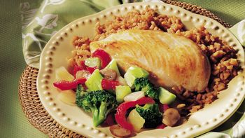 Sautéed Chicken with Asian Rice