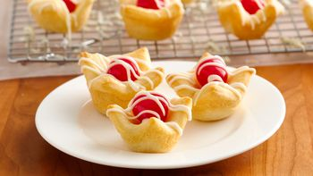 Cherry-White Chocolate Crescent Cups