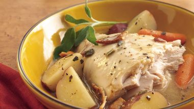 Slow-Cooker Turkey with Sage and Bacon