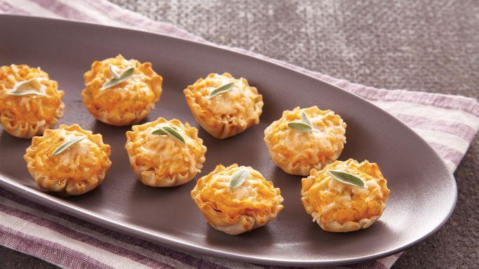 Cheesy Pumpkin Tartlets