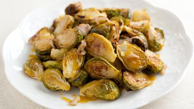 Caramelized Brussels Sprouts in Mustard Vinaigrette