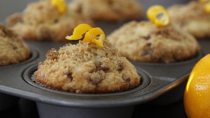 Meyer Lemon Coffee Cake Muffins