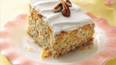 Butter Pecan Cake with Apricots