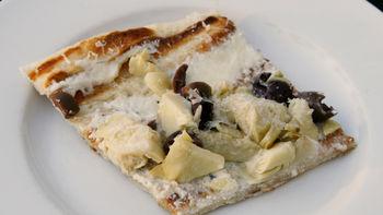 Artichoke and Kalamata White Pizza