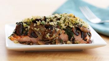 Salmon-Mushroom-Spinach Bake