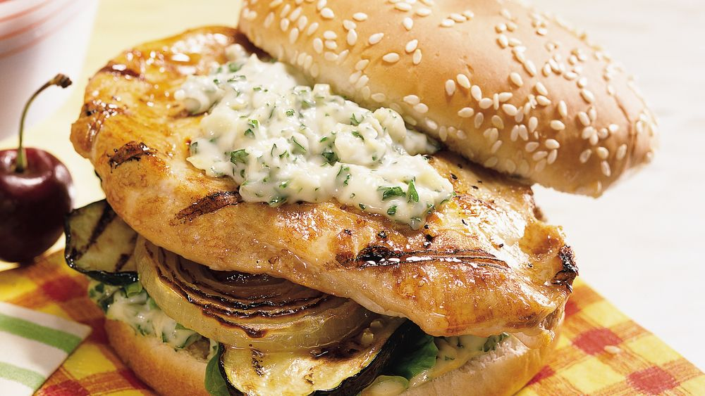 Chicken Sandwiches with Gremolata Mayonnaise