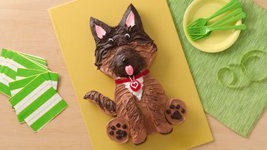 German Shepherd Dog Cake