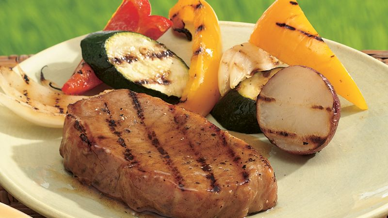 Honey-Maple Grilled Pork Chops