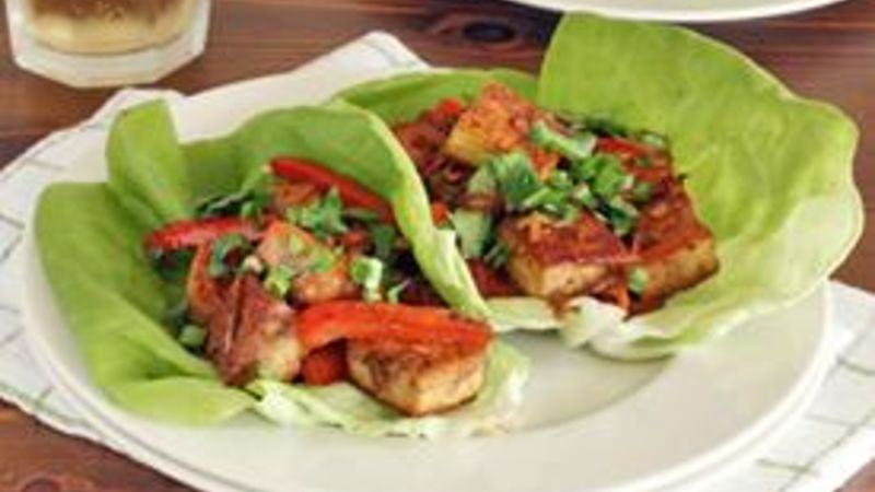 Spicy Tofu Lettuce Wraps recipe - from Tablespoon!