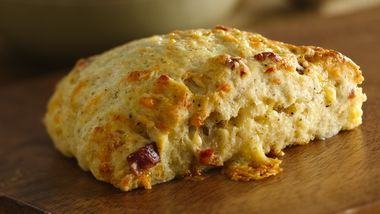 Twice-Peppered Bacon and Buttermilk Scones with Gouda