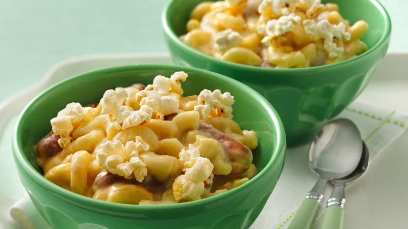 Beer-Cheese Mac and Sausages