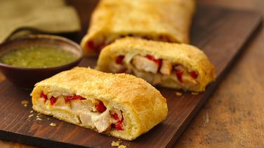 Chicken Pepper Roll with Salsa