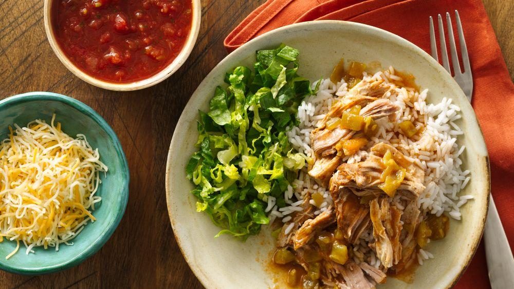Slow-Cooker Mexican Pork Burrito Bowls