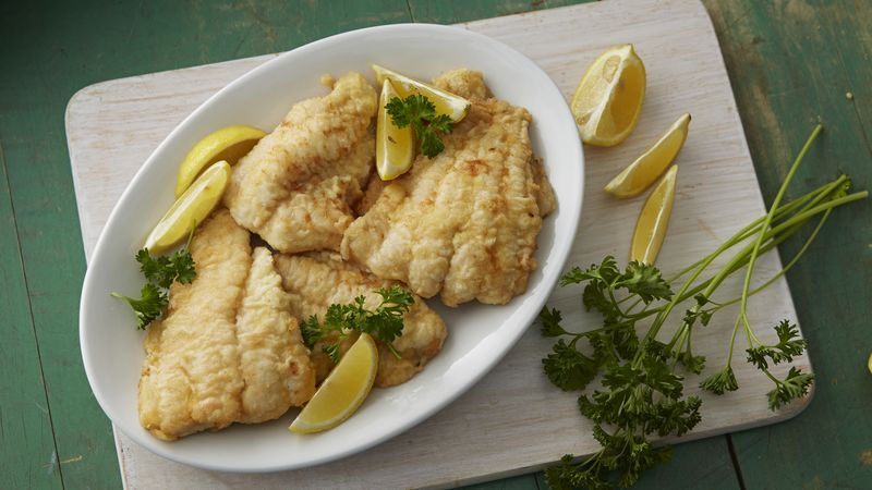 Panfried fish fillets recipe from betty crocker for Pan fried fish fillet recipes