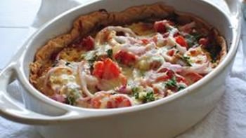 Goat Cheese Tomato Pot Pie