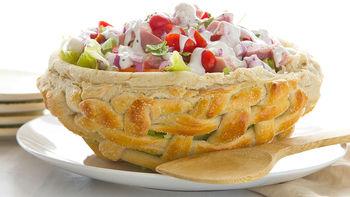 Pretzel Easter Basket with Butter Lettuce Salad