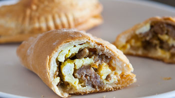 Sausage, Egg and Cheese Mini Hand Pies