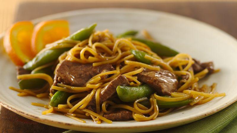 Orange Teriyaki Beef with Noodles recipe from Betty Crocker