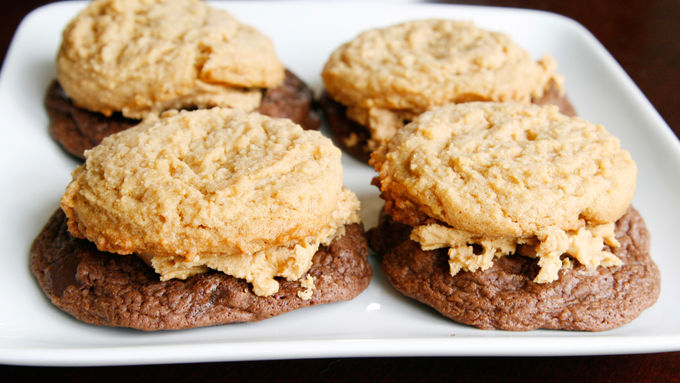 Peanut Butter Overload Chocolate Stacked Cookies