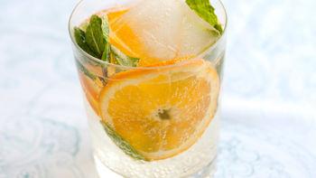 Mint and Orange Sparkle