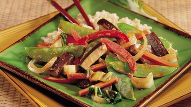 Steamed Chinese Vegetables with Brown Rice