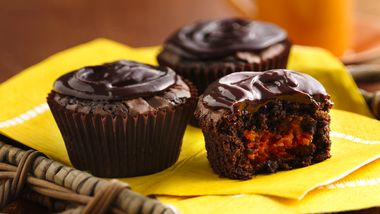 Mexican Brownies with Apricot-Ancho Filling and Dark Chocolate Ganache