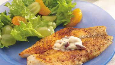 Fish Fillets with Roasted Red Pepper Mayonnaise