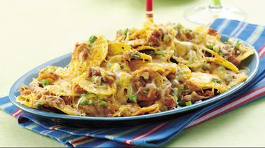 Double Cheese and Bean Nachos