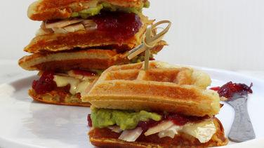 Sandwiches de Waffles y Pavo