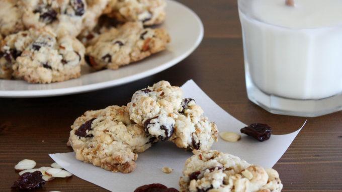 Cherry Almond Oat Breakfast Cookies