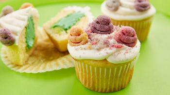 Ninja Turtle Slime-Filled Cupcakes