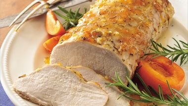 Pork Loin with Apricot-Rosemary Glaze