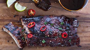 Grilled Ribs with Cherry Cola Barbecue Sauce recipe - from Tablespoon!