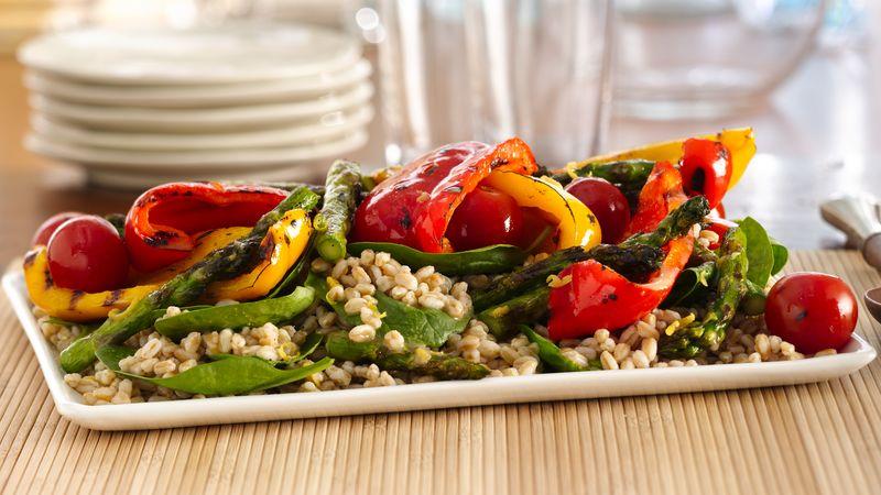 Grilled Vegetable Farro Salad