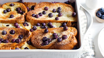 Overnight Blueberry-Lemon-Cream Cheese French Toast