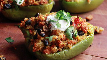 Quinoa and Ground Turkey Stuffed Peppers