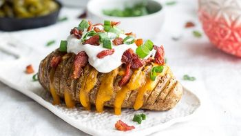 Loaded Hasselback Potatoes