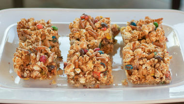 Popcorn and Candy Cookie Bars