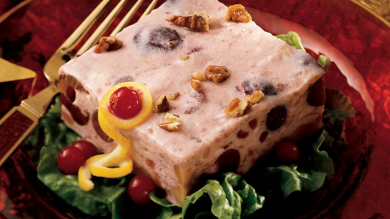 Frosty Cranberry Salad Squares