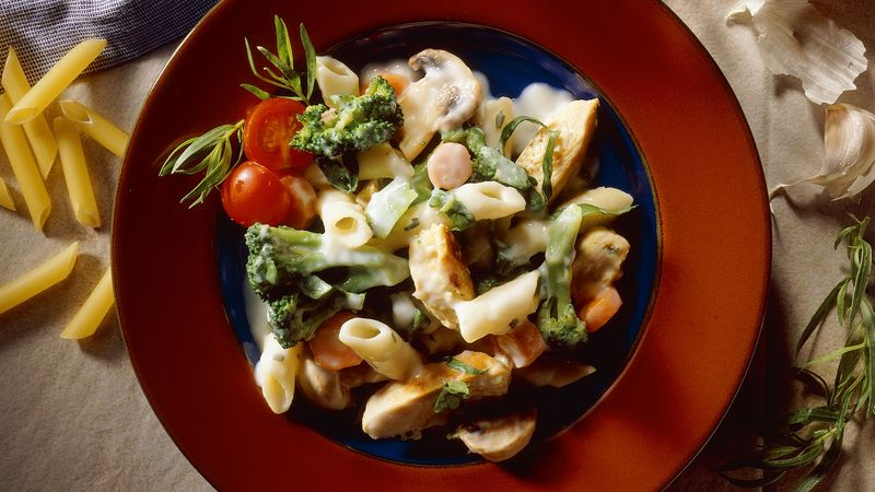 Tarragon and Chicken Pasta (Cooking for 2)