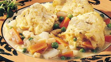Vegetable Stew with Herb Dumplings