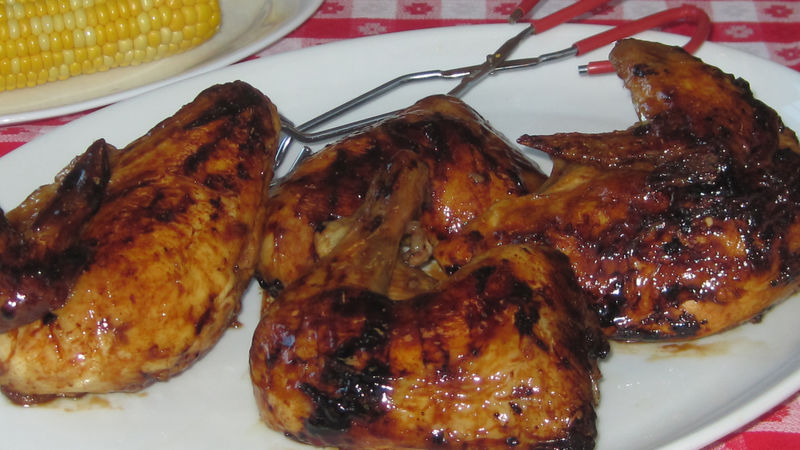 Bourbon-Glazed Grilled Chicken