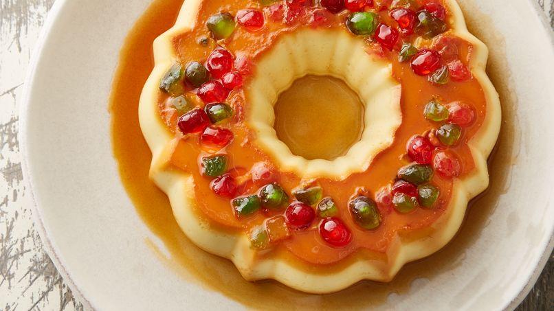 Flan Roscón de Reyes