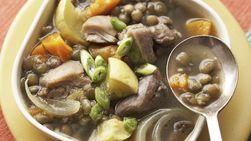 Estofado marroquí de pollo y calabacita